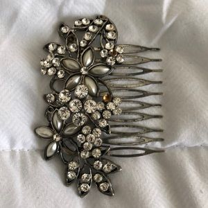 Vintage Silver and Jeweled Hair Pin